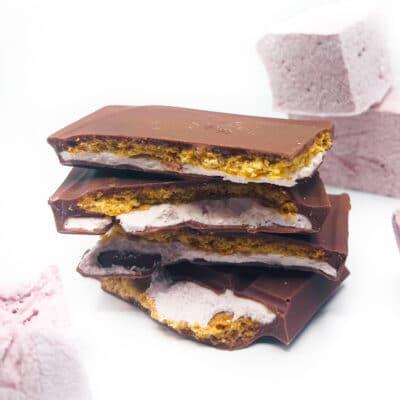 Strawberry smores chocolate block