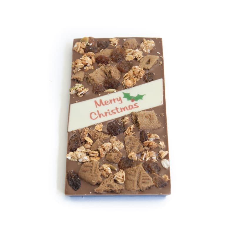 Christmas Cluster Crunch Chocolate Block