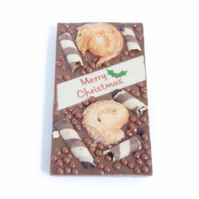 Christmas Scrolls Chocolate Block