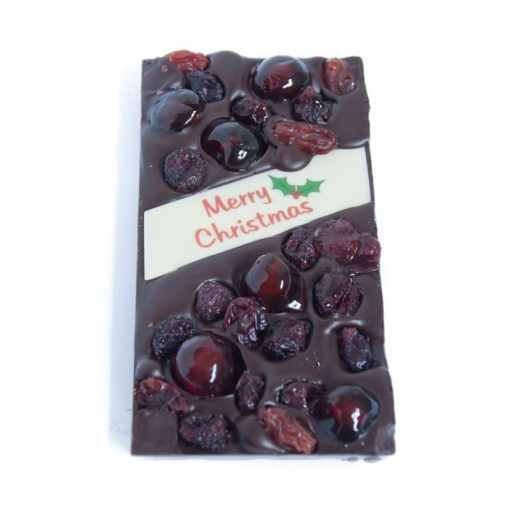 Christmas Fruitcake Chocolate Block