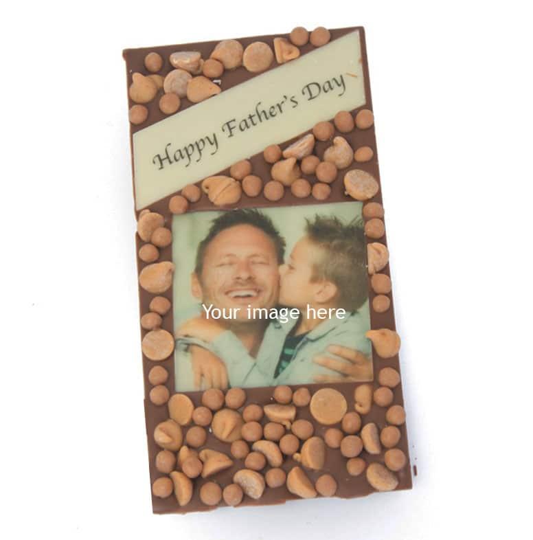 Dad's PB Caramel Photo Message Bar