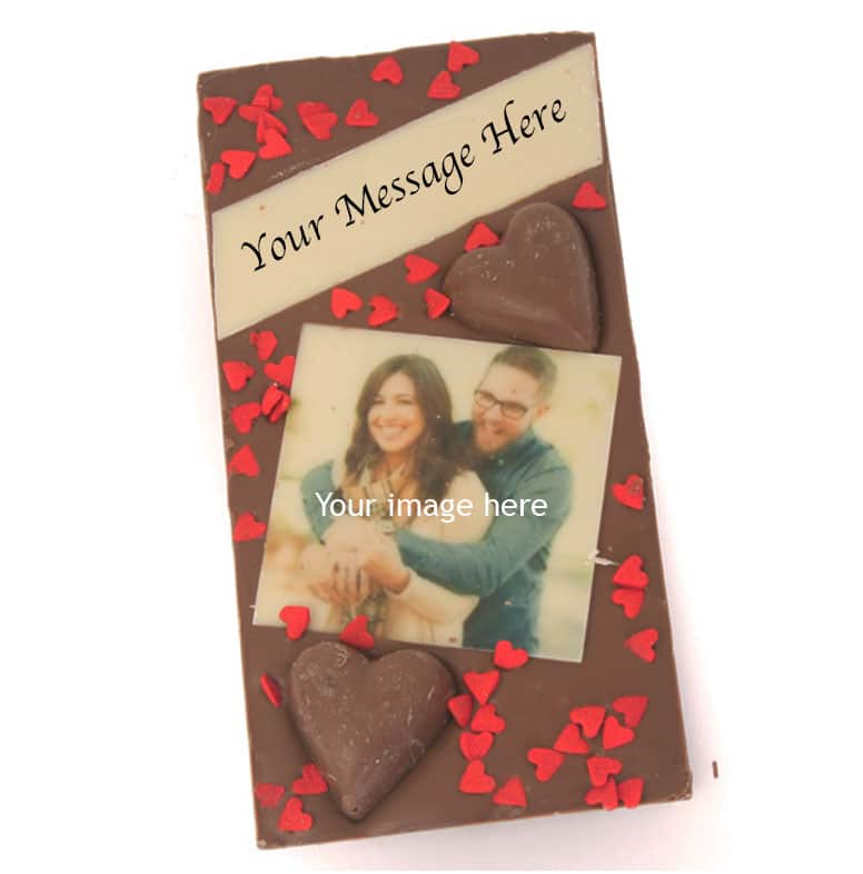 Love Hearts Photo Message Bar