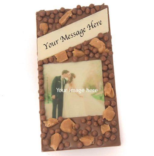 Caramel Crisp Message Photo Bar 1