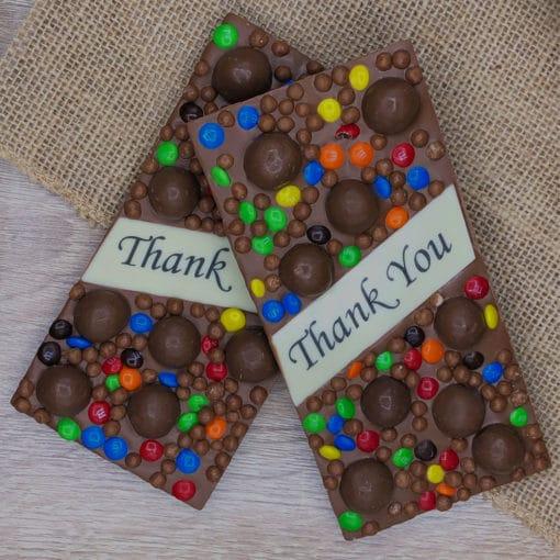 Thank You Edible Printed Milk Chocolate Block