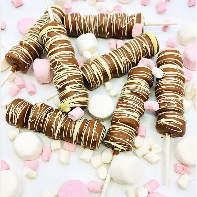 Marshmallow chocolate sticks