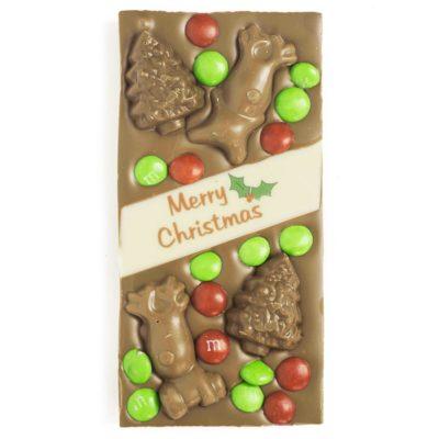 Christmas Milk Trees and Reindeer Block