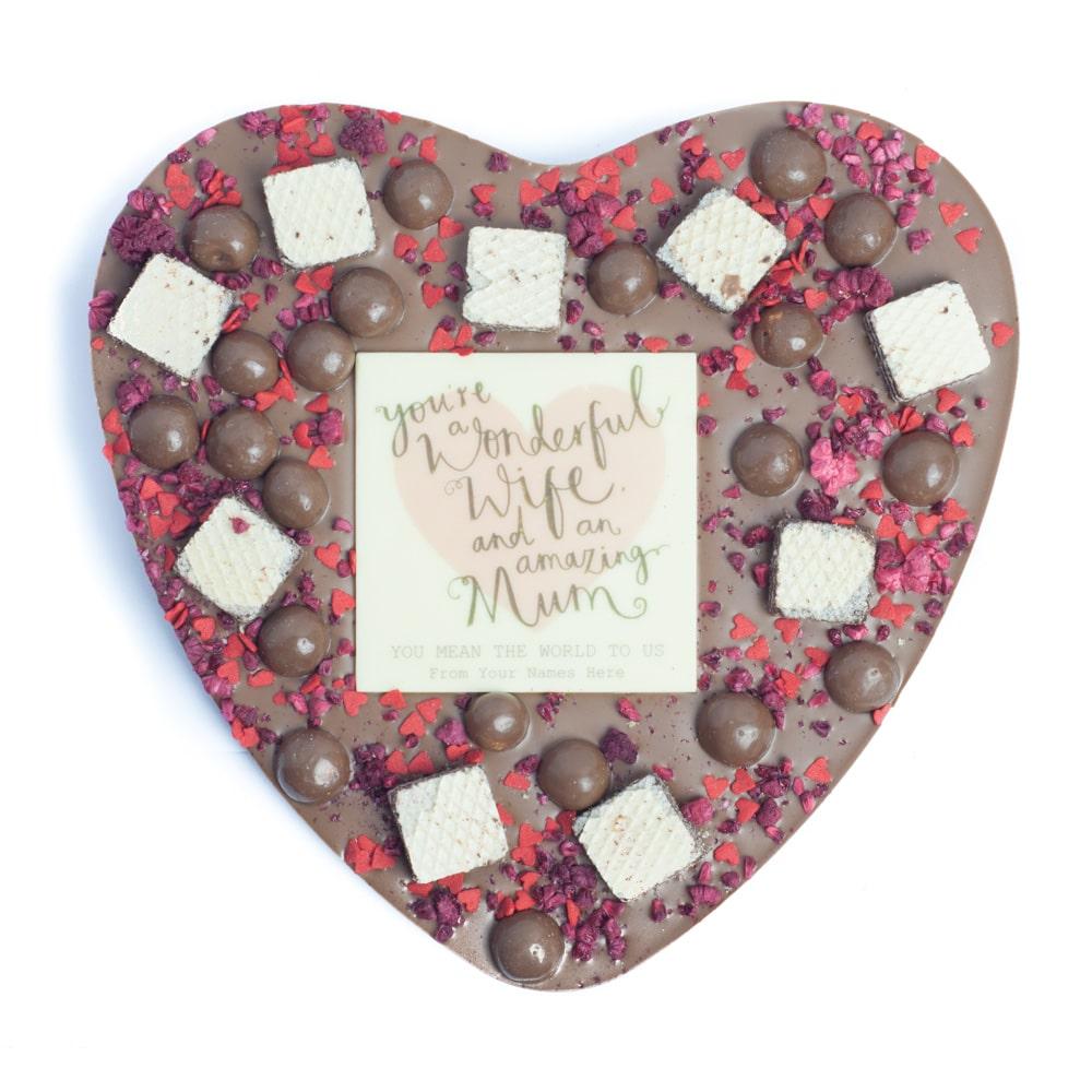 Personalised Names Gourmet Large Heart (Choose Milk, Dark or White chocolate)