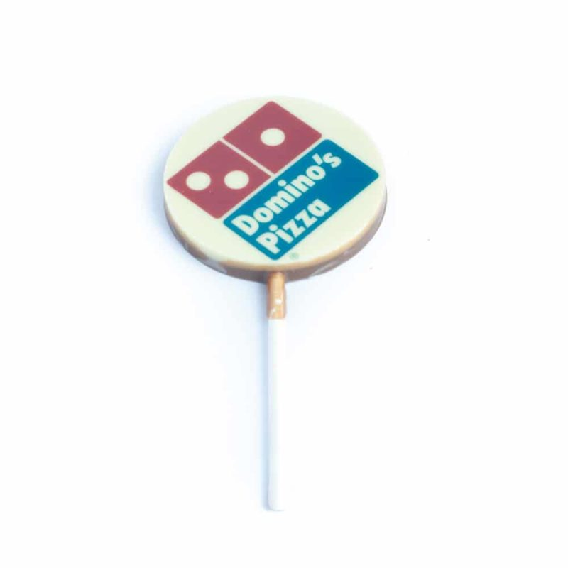 Corporate Lollipop Gift feature image showing milk and white chocolate layers