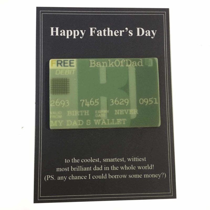 Bank Of Dad Chocolate Card 1