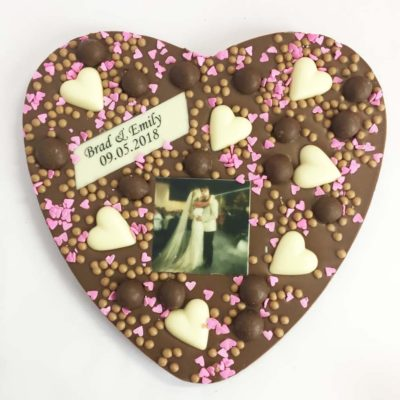 Giant Personalised Chocolate Heart