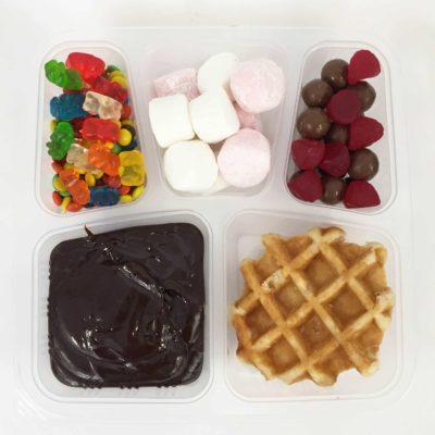 Chocolate Waffle Bento Box