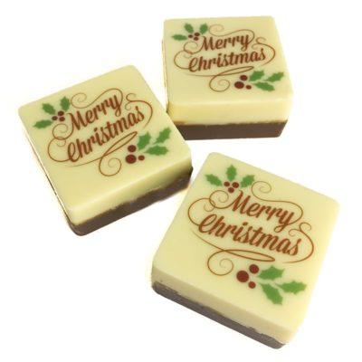 Merry Christmas Chocolate Squares
