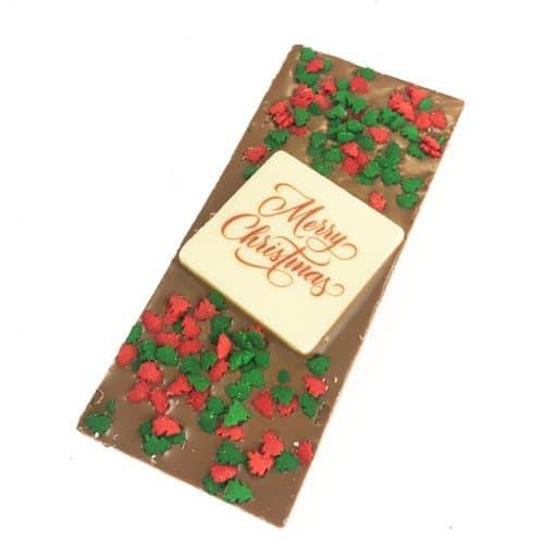 Decorative Christmas chocolate bar
