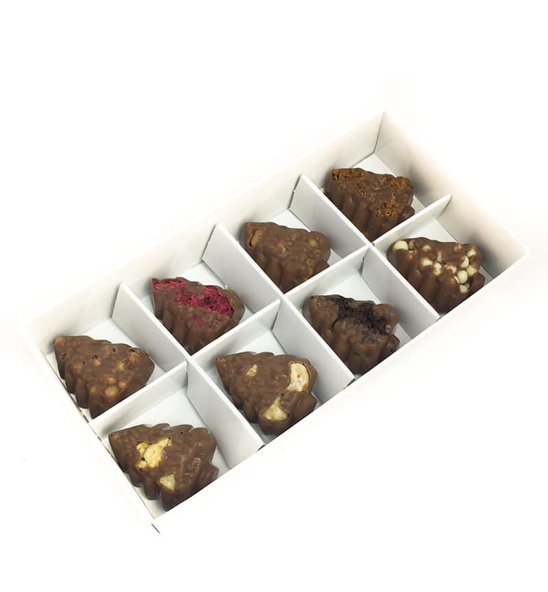 Christmas Tree Chocolate Truffles