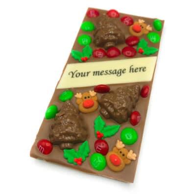 Christmas Custom Message Chocolate Bar