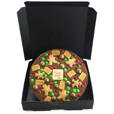 Christmas Chocolate Pizza