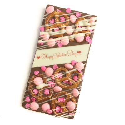 Valentine's Day Pretzel Chocolate Block