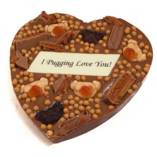 I Pugging Love You chocolate heart