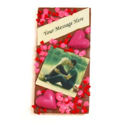 Valentine's Day Photo Message Block