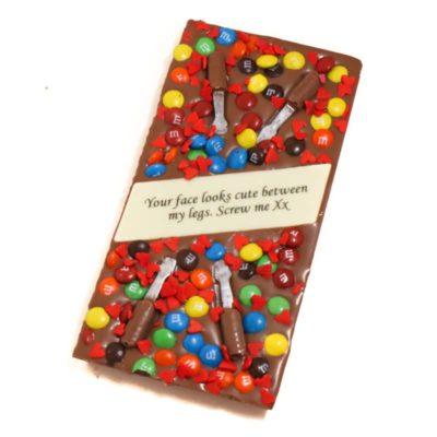 Screw me chocolate block