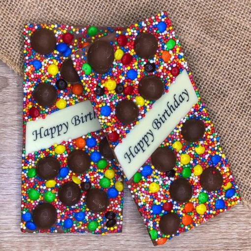 Happy Birthday Chocolate Block