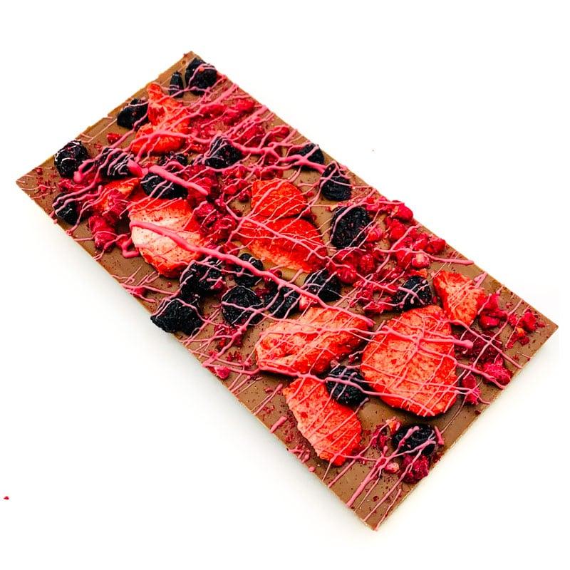 Mixed Berry Cheesecake Chocolate Bar
