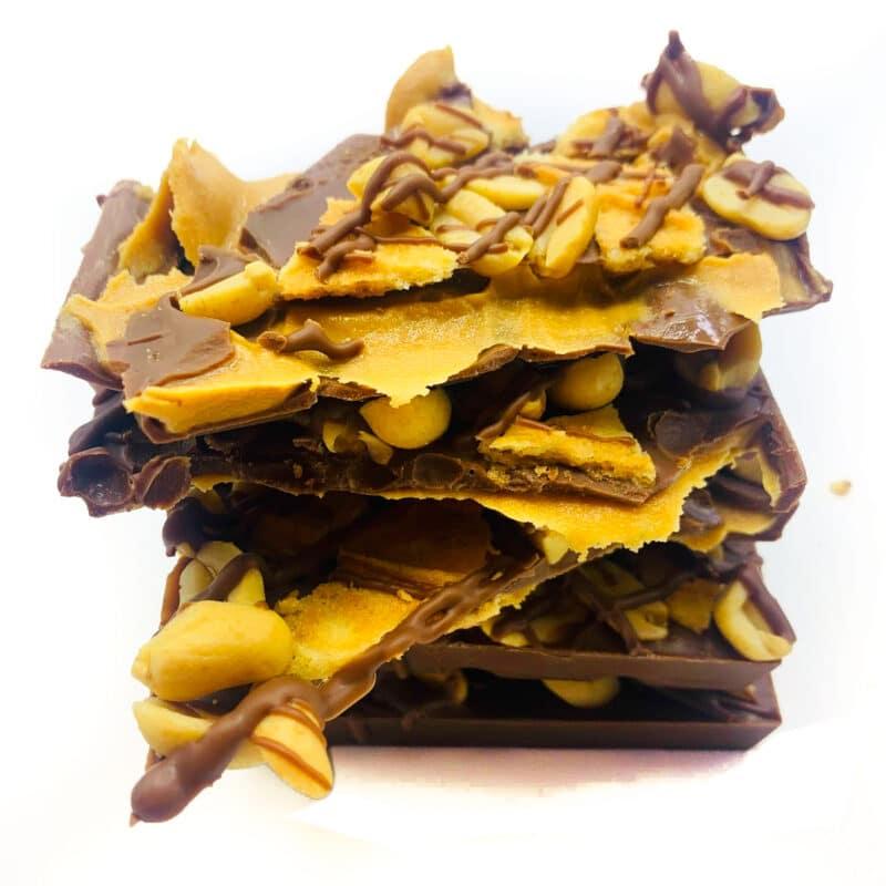 Peanut butter waffle nut chocolate block