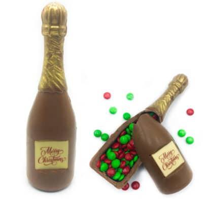 champagne smash chocolate bottle
