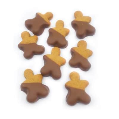 chocolate dipped gingerbread men
